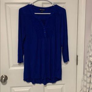 Blue blouse size M tunic style